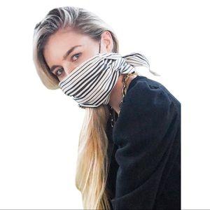 Mali + Lili Shimmer Stripe Four Layer Mask Scarf